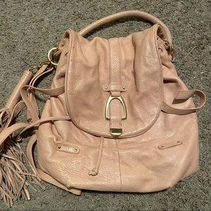 G.I.L.I. Leather convertible handbag backpack